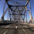 Time-lapse P.O.V. Journey into San Francisco via Road Bridges - Stock Photo