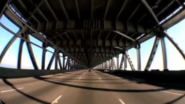 Point-of-View Driving Oakland Bay Bridge — Stock Video