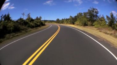 Point-of-view Fish-eye Driving on Rural Road — Stock Video