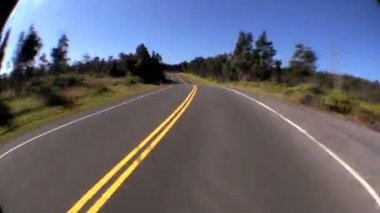 Time-lapse Point-of-view Fish-eye Driving on Rural Road — Stock Video