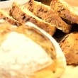 Stock Video: Healthy Bread Appetizer