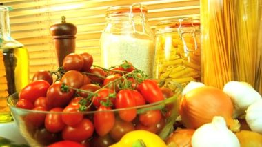 Ingredients for Healthy Meals — Stock Video