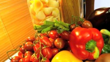 Fresh Healthy Ingredients — Stock Video