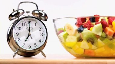 Svegliarsi per mangiare sano — Video Stock