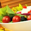 Healthy Salad &amp; Oils - Stock Photo