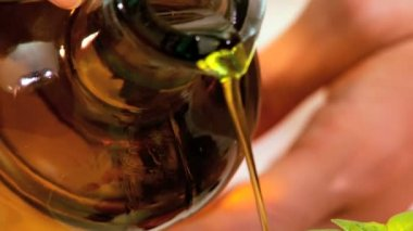 Healthy Olive Oil — Stock Video