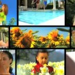 Happy Summertime Montage - Stock Photo