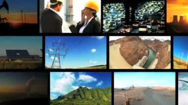 Montage of Environmental Contrasts — Stock Video