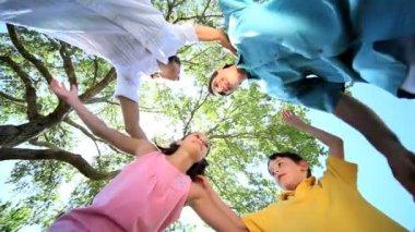 Unbroken Family Circle — Stock Video