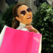 Elegant Shopping Fun - Foto Stock