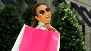 Elegant Shopping Fun — Stock Video