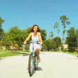 Female Cycling Fitness — Stock Video #21513481