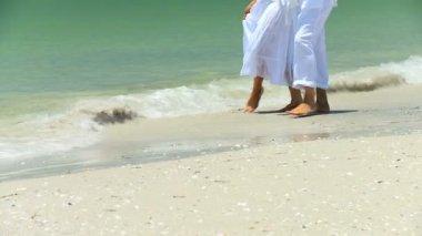 Pláže životní styl seniorů — Stock video