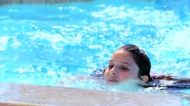 Children Swimming Lifestyle — Stock Video