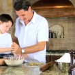 Family Cooking Time - Stock Photo