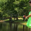 Young Girl Fishing — Stock Video