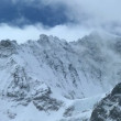 Snow on Dramatic Swiss Alps - Stock Photo