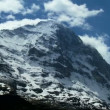Time-lapse Clouds, Eiger Slopes, Switzerland — Stock Video