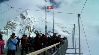 Summit at Jungfraujoch, Switzerland — Stock Video