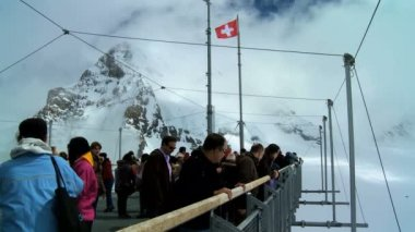 Jungfraujoch, Swiss Alps — Stock Video
