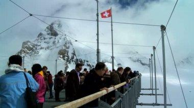 Jungfraujoch, Swiss Alps — Stock Video