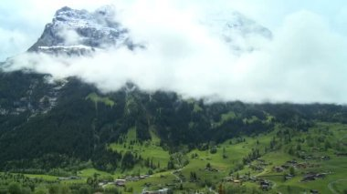 Time-lapse Clouds over Swiss Alps — Stock Video