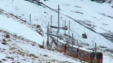 Swiss Jungfrau Railway — Stock Video