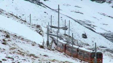 Swiss Jungfrau Railway — Stock Video