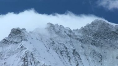 Snow on Dramatic Swiss Alps — Stock Video