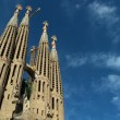 Time-lapse Clouds over Sagrada Familia, Spain — Stock Video
