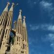 Time-lapse Clouds over Sagrada Familia, Spain — Stock Video