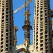 Towering Spires of Sagrada Familia Church — Stockvideo