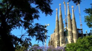 Igreja da Sagrada família, Espanha — Vídeo stock