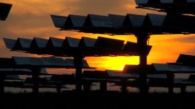 Time-lapse Sunrise at Solar Plant — Stock Video