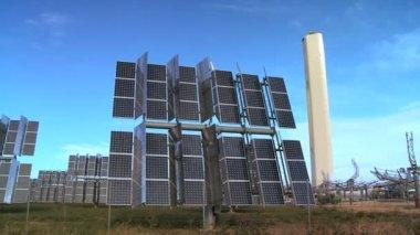 Photovoltaic Solar Energy Panels — Stock Video