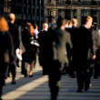 Stock Video: Busy City Commuters