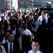 Stock Video: London City Commuters in Slow Motion