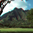 Stock Video: NPali Cliffs, Hawaii in Stereoscopic 3D