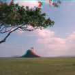 Stock Video: Chinaman's Hat, Hawaii in Stereoscopic 3D