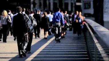 Walking to Work — Stock Video
