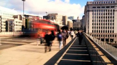 Time-lapse City Commuters & Traffic — Stock Video