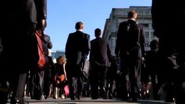 London City Commuters — Stock Video