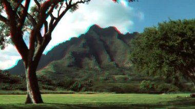 Na Pali Cliffs, Hawaii in Stereoscopic 3D — Stock Video