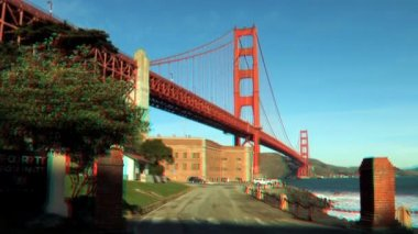 Golden Gate Bridge in Stereoscopic 3D — Stock Video