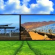 Clean Solar Energy Montage - Stock Photo