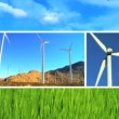 Clean Wind Turbine Energy Montage — Stock Video