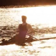 Rowing Practice Early Morning — Stock Video