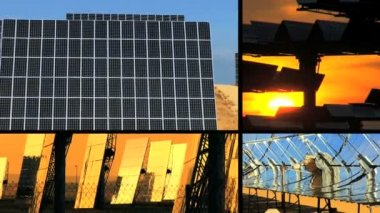 Montage of Solar Energy Panels — Stock Video