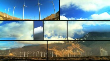 Montage of Wind Turbine Energy — Stock Video