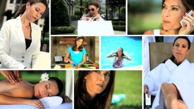 Montage of a Modern Woman — Stock Video